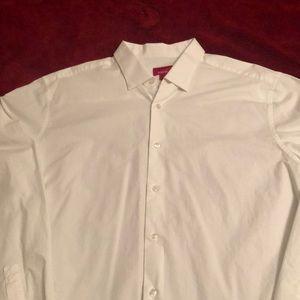 Alfani Slim Fit Stretch Shirt L 16- 16 1/2- 34-35